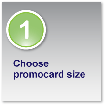 Choose Promocard size
