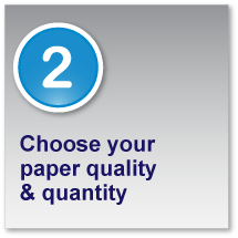 Choose your paper quality and quantity